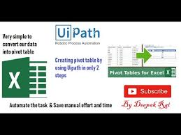 Uipath How To Create Pivot Table By Using Uipath