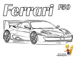 Odd Ferrari Coloring Pages Heart Pounding Cars Free Boys Race And