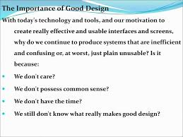 Importance Of Good Design In Hci Human Computer Interaction Ppt Download