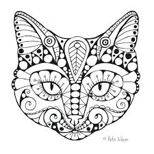 coloring pages cat coloring book pictures to color and cats pages at on free simple