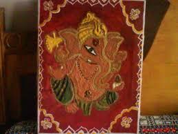 ganesha sand painting my art