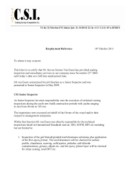 Letter Of Employment To Whom It May Concern North Hunterdon