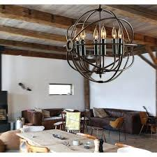 excellent observatory lighting orb iron chandelier rustic iron replica black wrought iron orb chandelier
