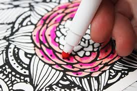 coloring with markers.  Coloring Picturesque Design Ideas Coloring With Markers Alisaburke Kids In