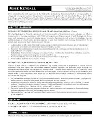 Sample Resume For Auditor Sample Resume Sample Resume Internal Audit