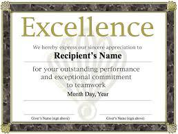 Sample Certificate Award Free Printable Award Certificate Template Excellence Award