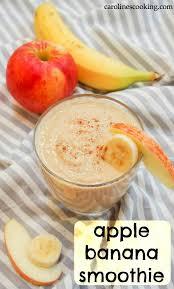 apple banana smoothie caroline s cooking
