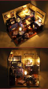 new home decoration crafts diy doll house wooden houses miniature dollhouse furniture kit room items led lights