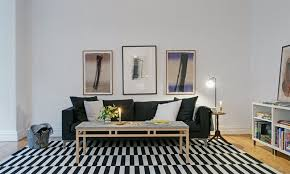 set design scandinavian bedroom. clean timeless beauty materiallized in scandinavian interior design with a black and white theme set bedroom