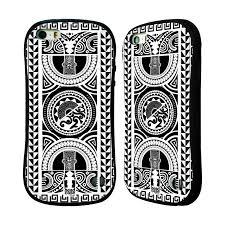Head Case Silikonplast Odolný Obal Na Mobil Apple Iphone 55s Vzor Maorské Tetování Motivy černá A Bílá Kruh