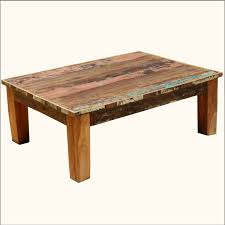 Image Of: Square Reclaimed Wood Coffee Tables
