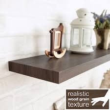 Dark Brown Floating Shelves Way Basics Grenada 100100 in W x 100 in D zBoard Paperboard Textured 2