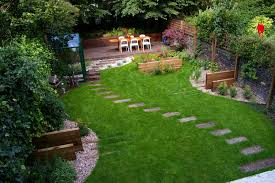 Beautiful Landscape Design For Backyard Garden With Small Bench Design For Backyard