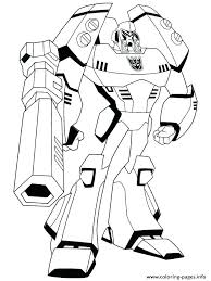 Bumblebee Transformers Coloring Page Bumblebee Transformer Coloring