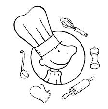 Kleurplaat Kok Prentenversjes Restaurant Eten Eten En Koken