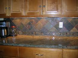 slate mosaic tile backsplash