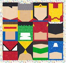 Super Heroes - 12 Quilt Block Patterns - Superman Batman Thor ... & Super Heroes - 12 Quilt Block Patterns - Superman Batman Thor Spiderman  Flash Wolverine - Foundation Paper Piece Patch - PDF Download Adamdwight.com
