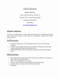 Resume Format For Dance Choreographer Resume Format For Dance Teacher Lovely Resume Samples Dance Teacher 6