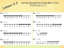 16 solving inequalities