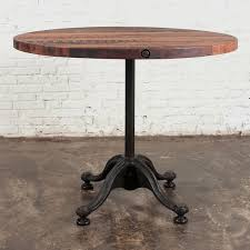 captivating wood bistro table with nuevo v42 round bistro table reclaimed wood patio dining