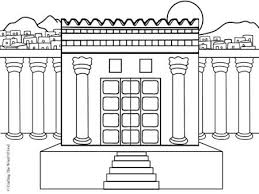 Small Picture Solomons Temple Coloring Page O34 Salomo Pinterest Sunday