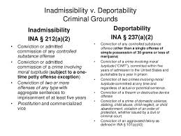 Grounds Of Inadmissibility Chart Passaic Seminar Final
