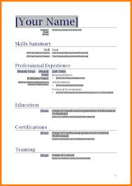 8+ resume sample word file