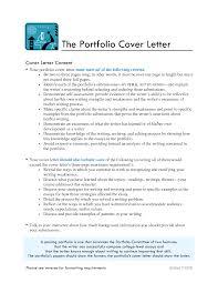 Portfolio Cover Letter Examples Best Letter Sample