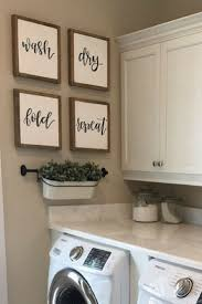 Set of four farmhouse wood signs for laundry room/mudroom. wash, dry,