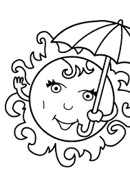 Small Picture Summer coloring pages with sun for kids seasons coloring pages