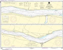 Columbia River Nautical Charts Noaa Nautical Chart 18536 Columbia River Sundale To Heppner Junction