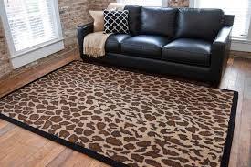 image of leopard print carpet