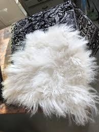 white sheep fur