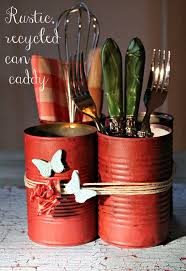 silverware caddy rustic home decor projects