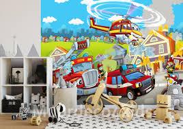 Brandweer Fotobehang Voor De Kinderkamer