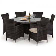 maze rattan baby la 6 seat rattan dining set 1 35m round table