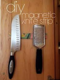easy diy magnetic knife strip