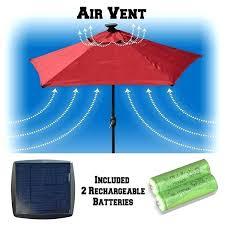 solar light patio umbrellas uberhaus cantilever umbrella with netting review