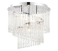 endon camille 4 light flush ceiling light chrome plate finish with clear glass 68698