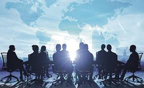 roundtable discussion stock image