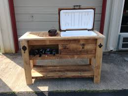 Table Drinks Cooler Diy Cooler Wood Cooler