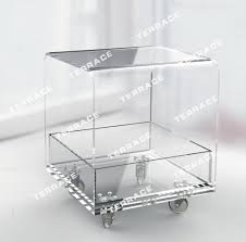 table on wheels. rolling clear acrylic outdoor patio coffee table, modern lucite perspex side table with wheels,planting table-in tables from furniture on wheels
