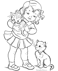 Small Picture Preschool Kitten Page to Color