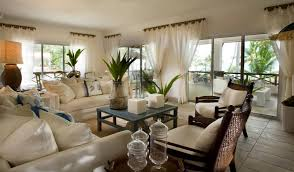 Tropical Living Room Furniture Tropical Living Room Decorations With White Sofa And Wicker Chairs