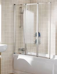 lakes classic triple panel silver framed bath screen 1390mm
