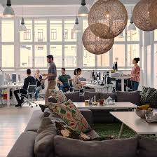 efficient office design. Office Space Lighting. People Working In Efficient Spaces Lighting Design 3