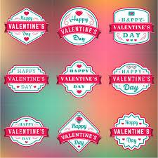 vine valentines day labels vector set 10