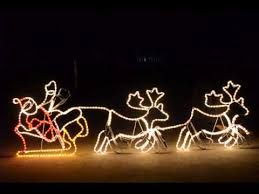lights 2 4m giant santa sleigh with 2 deer