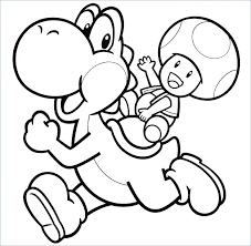 Coloring Pictures Free Printable Toad And Pages Baby Page Bros Yoshi
