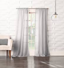 918 tayla crushed sheer voile rod pocket curtain panel